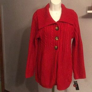 NWT Trendy Red Style &Co XL Sweater